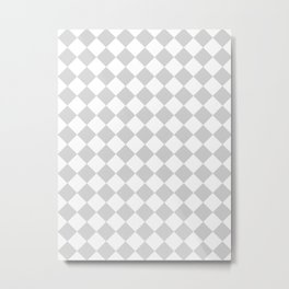 Diamonds - White and Light Gray Metal Print
