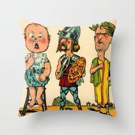 Les Cubes Amusants 5 Throw Pillow
