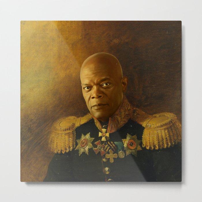 Samuel L. Jackson - replaceface Metal Print