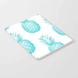 Teal Pineapple Notebook