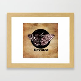 Half Moth Half Butterfly Devided Framed Art Print