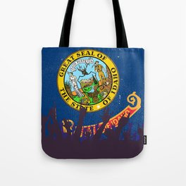 Idaho State Flag with Audience Tote Bag