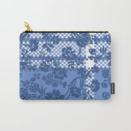 Classic Blue Damask  Carry-All Pouch