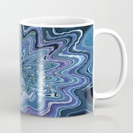 Star marble turquoise violet Design Coffee Mug