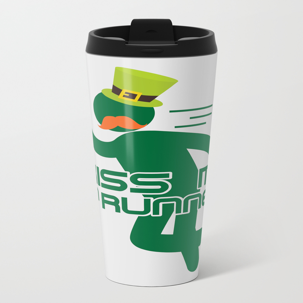 Kiss Me I'm Runner St Patrick's Day Travel Cup TRM9069871