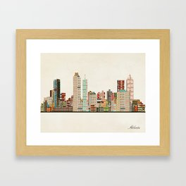 atlanta skyline Framed Art Print