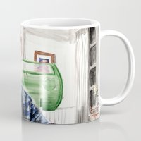 larry Mugs featuring Larry Summers by Gregory Nordquist