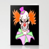 pennywise Stationery Cards featuring Demented Clown Skull by J&C Creations