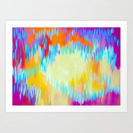 Bright abstract art with Happy Colours Art Print