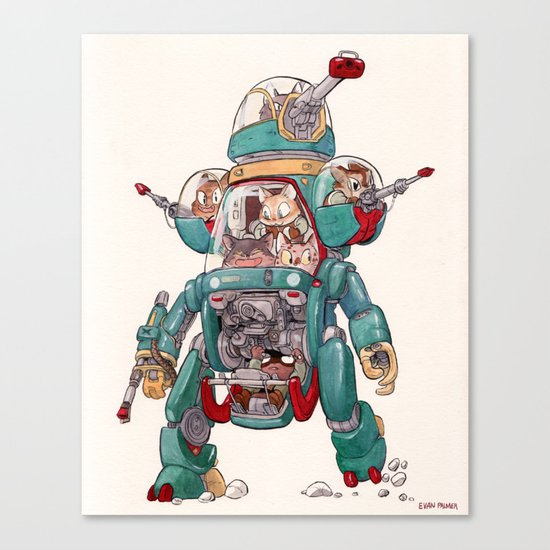 The Tactical Scout Walker Canvas Print