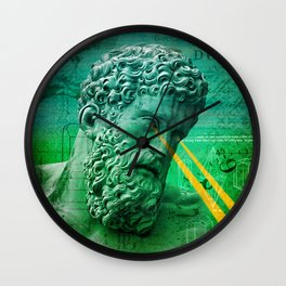 Bearded Statue with Laser Eyes Wall Clock