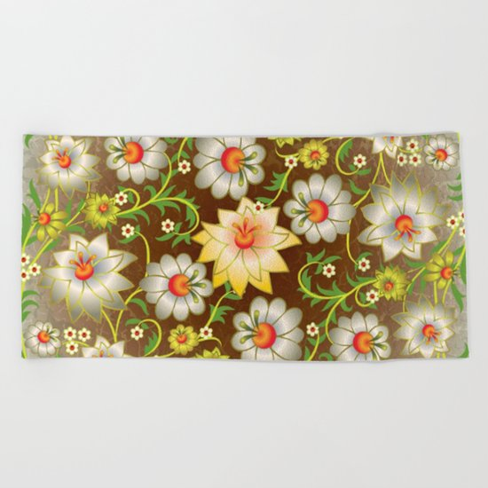 Shabby flowers #10 Beach Towel
