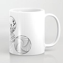 Mandalas, circles and flowers Coffee Mug