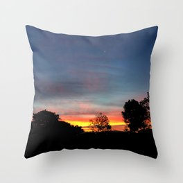 Lurid Dawn: 10.08.15 Throw Pillow