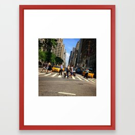 5th Avenue, looking north towards Central Park Framed Art Print
