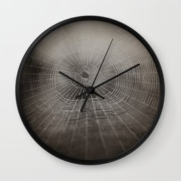 Oh What a Tangled Web We Weave.......  Wall Clock
