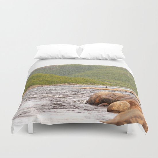 Fly-fishing On The River  Duvet Cover
