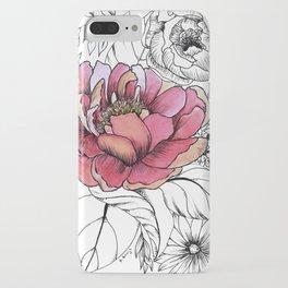 Painted Peony Garden iPhone Case
