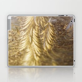 Golden World Ice flowers pictures Laptop & iPad Skin