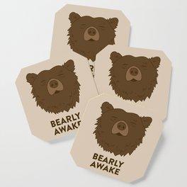BEARLY AWAKE Coaster