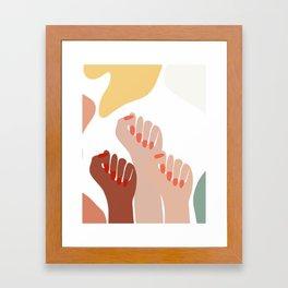 We persist - Girls hands - girlpower  Framed Art Print