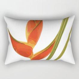 Heliconias Flower orange Rectangular Pillow
