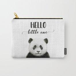 Panda Art Print Baby Animals Hello Little One Nursery Decor Carry-All Pouch