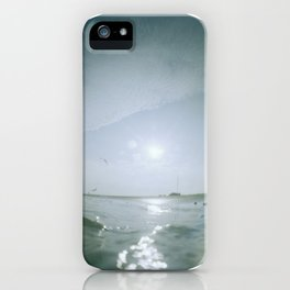 birds flying with icky thumbprint iPhone Case