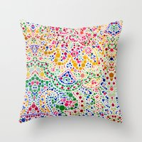 confetti Throw Pillows featuring Confetti by Love2Snap