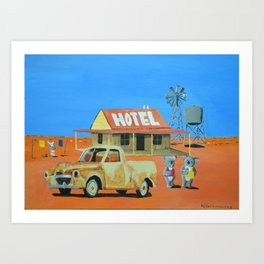 The Aussie Hotel Art Print