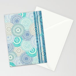Circles / Stripes Stationery Cards