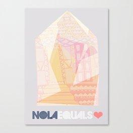 NOLA Equals Heart Canvas Print