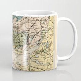 Vintage Map of the Coal Fields of South Wales - Forest Of Dean - Bristol and Somersetshire Coffee Mug