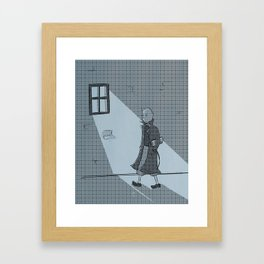 The Belgian Journalist. Framed Art Print