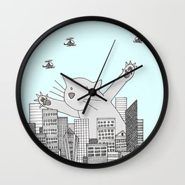 CAT ATTACK Wall Clock