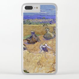 Wheat Stacks with Reaper Clear iPhone Case