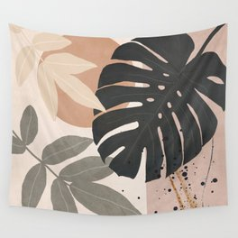 Abstract Tropical Art X Wall Tapestry