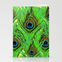YELLOW-GREEN PEACOCK FEATHERS ABSTRACT ART by sharlesart