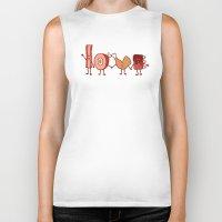 meat Biker Tanks featuring Meat Love U by Charity Ryan