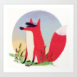 The Fox. Art Print