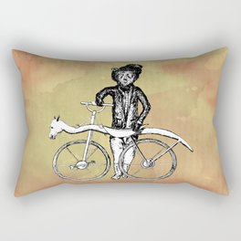 Bear's Bike Rectangular Pillow