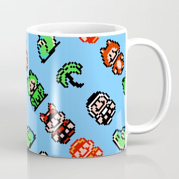 Super Mario Bros. 3 (NES) pattern | blue sky Coffee Mug