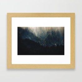 THE BRIGHTER SIDE OF DARKNESS Framed Art Print