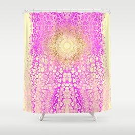 Chakra Sun River - Purple Ocean Yellow Glitter Shower Curtain