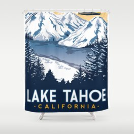 lake tahoe california Shower Curtain