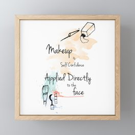 Make Up Quotes Framed Mini Art Print