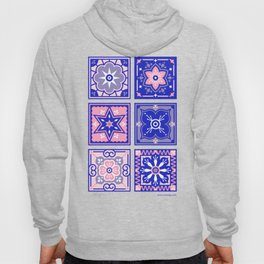 Talavera Mexican Tile – Pink & Periwinkle Palette Hoody