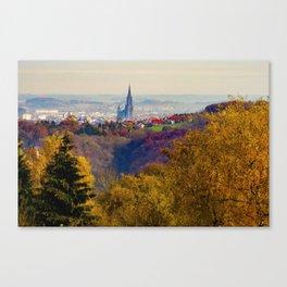 Ulm in autumn Canvas Print
