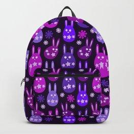 Easter Egg Bunny Pattern - Purple Mauve Lilac Ultra Violet Pink Backpack