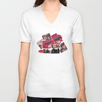 1989 V-neck T-shirts featuring T.S. 1989 by littlestcupoftea
